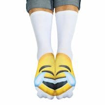 Emojicon Crew Socks- Tears Of Joy