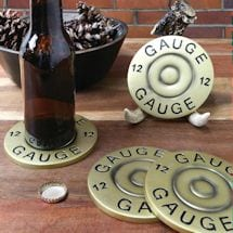 Shotgun Shell Coasters With Antler Holder
