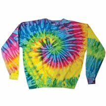 Tie-Dye Crew Fleece Sweatshirts -White