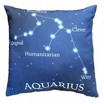 Horoscope Navy Blue Decorative Throw Pillow