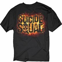 Suicide Squad Flames Logo Tee