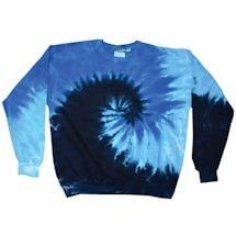 Tie-Dye Crew Fleece Sweatshirts -Black