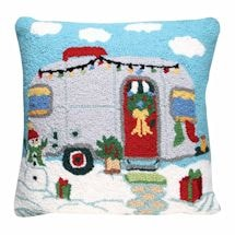 Christmas Trailer Pillow