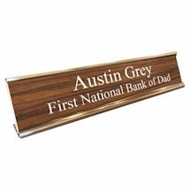 Personalized Desk Sign - Bank Of Dad