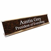 Personalized Desk Sign - President Of Everything