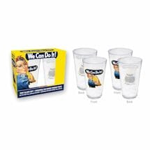 Rosie The Riveter Pint Glass Set