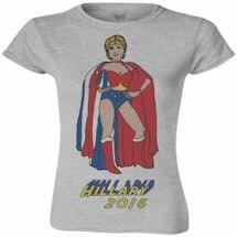 Hillary Wonder Woman Ladies Tee