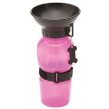 Highwave AutoDogMug - 20 oz Water Bottle for Dogs - Pink Color