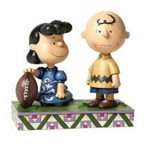 Peanuts Never Give Up Lucy & Charlie Brown Figurine by Jim Shore