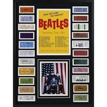 The Beatles 1964 Tour Ticket Collage