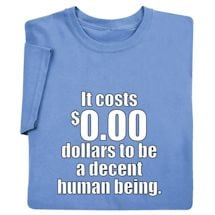 $0.00  To Be Decent Shirts