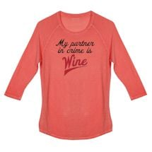 Wine Humor Ladies Tees - Partner In Crime