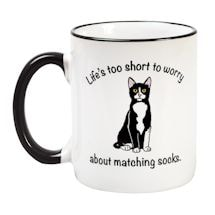 Cat Coffee Mug - Matching Socks