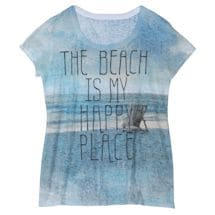 The Beach Is My Happy Place Women's T-Shirt