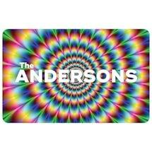 Psychedelic Personalized Doormat