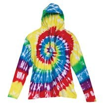Tie Dye Long Sleeve Hooded Tee