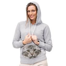 Cat Face Sublimated Pocket Hoodie