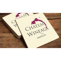Chateau Wineaux Personalized Coaster Set