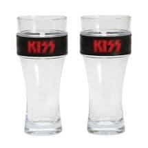 Kiss Slap Band Pint Glass Set