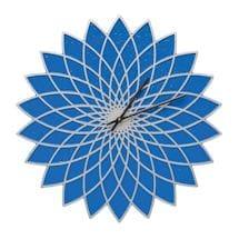 Indoor - Outdoor Metal Clocks - Blue Lotus
