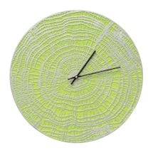 Indoor - Outdoor Metal Clocks - Lime Wood Grain