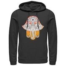 Artsy Elephant Ladies' Hoodies - Black