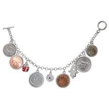 Lucky Coins Charm Bracelet