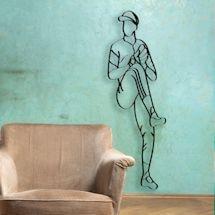 Baseball Player Metal Wall Art - Pitcher