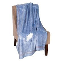 Faux Denim Throw