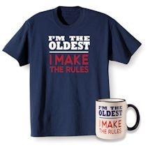 Rules Oldest Shirt and Mug Gift Set