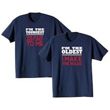 Rules Oldest and Youngest T-shirt Set