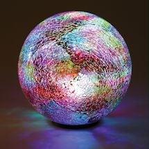Multi-Colored Mosaic Led Glass Ball