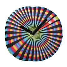 Trippy Spinning Tie-Dye Inflatable Clock
