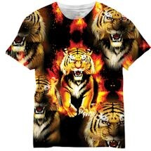 Tiger Flames Sublimated Tee