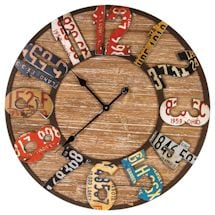 Repurposed Metal And Wood Clock