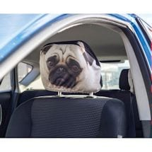 Pug Headrest Covers - Set of 2