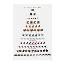 12 Days Of Christmas Pet Dish Towels - Dog