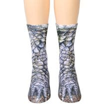 Sublimated Paw Crew Socks - Alligator