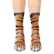 Sublimated Paw Crew Socks - Tiger