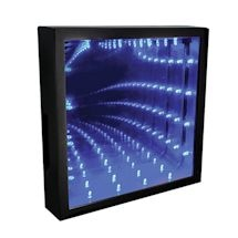 "Infinity Mirror Depth Illusion Accent Light - 10"" Square"