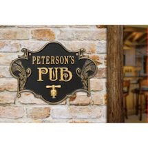 Personalized Hops & Barley Beer Pub Plaque