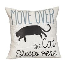 Move Over Cat Pillow