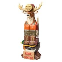 Gone Hunting Tiki Totem Pole - Lawn Ornament