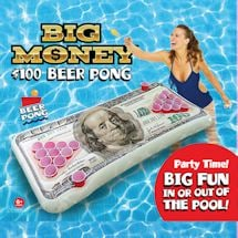 $100 Bill Beer Pong Pool Float