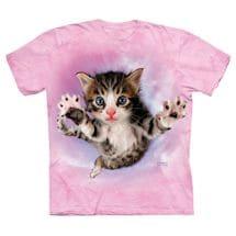 Pouncing Cats Tees - Pink