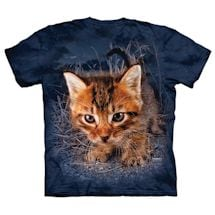 Pouncing Cats Tees - Blue