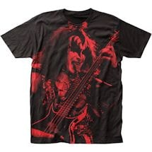 Jumbo Print Rock Shirts - Gene Simmons/Kiss