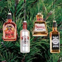 Top-Shelf Liquor Glass Ornaments Set