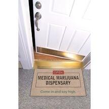 High Cotton Front Door Welcome Mats - Open: Medical Marijuana Dispensary
