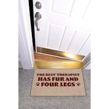 High Cotton Front Door Welcome Mats - Best Therapist has Fur and Four Legs